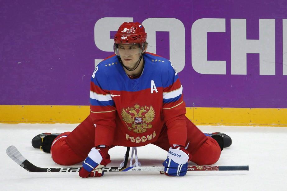 Alexander Ovechkin aux Jeux olympiques de Sotchi en... (ARCHIVES AP)