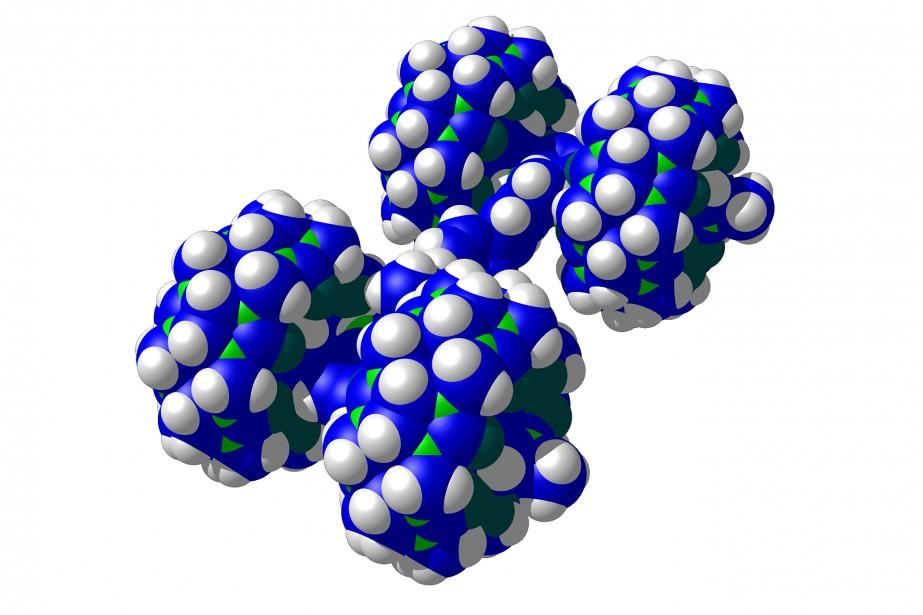 La «Bobcat Nano-wagon», créée pour la course de nanovoitures par l'Université de l'Ohio. La course de 36 heures aura lieu les 28 et 29 avril à Toulouse.Les nanovoitures en lice mesurent 1 à 3 nanomètres tout compris (1 nanomètre = 1 milliardième de mètre). (AFP)