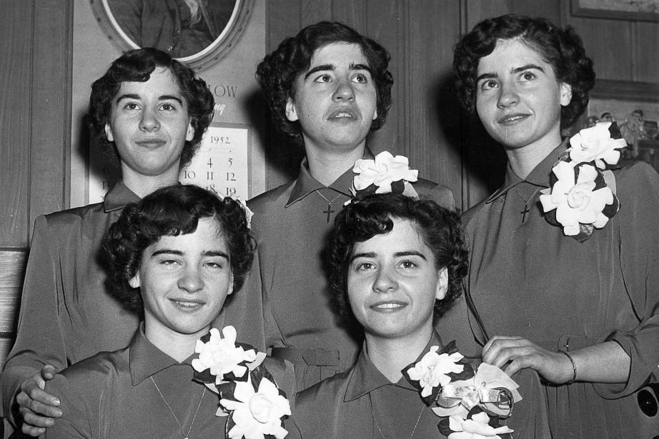 Les quintuplées Dionne sont nées en 1934. Le... (ARCHIVES PC)