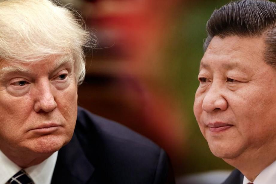 Donald Trump et Xi Jinping.... (PHOTOMONTAGE LA PRESSE)