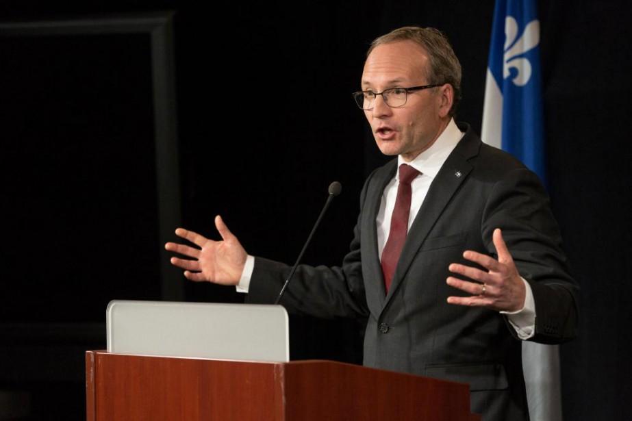 Le ministre des Affaires municipales MartinCoiteux assure qu'il... (PHOTO SIMON GIROUX, LA PRESSE)