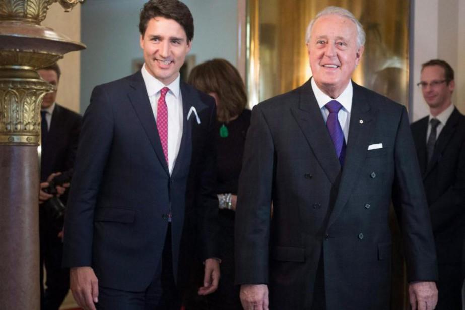 Justin Trudeau et Brian Mulroney... (Archives, La Presse Canadienne)