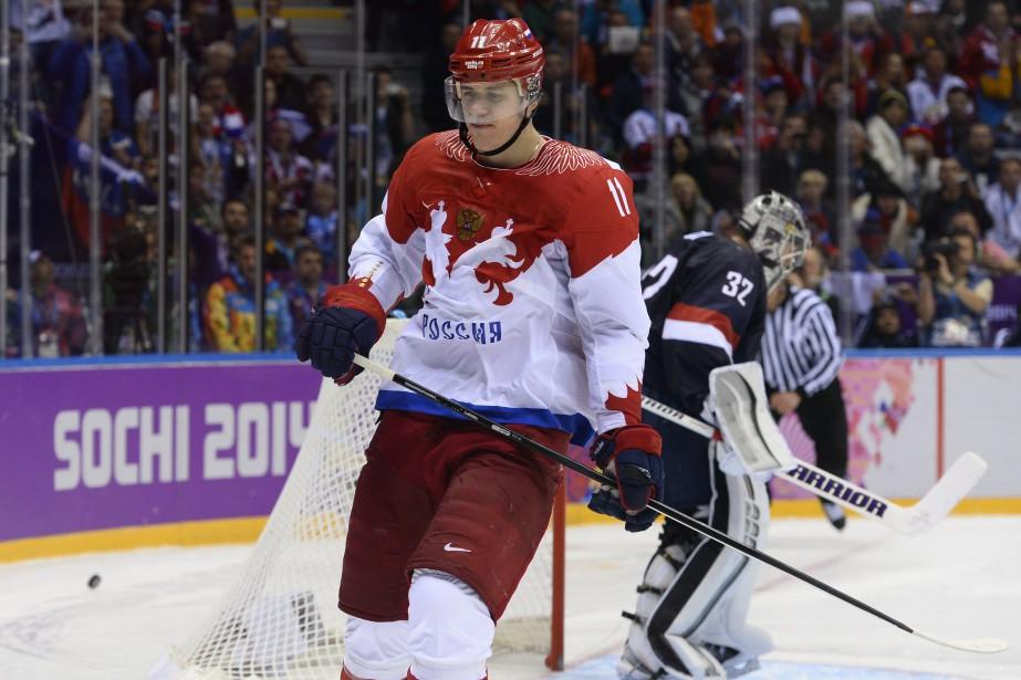 Evgeni Malkin aux Jeux olympiques de Sotchi en... (Photo Jonathan Nackstrand, archives AFP)