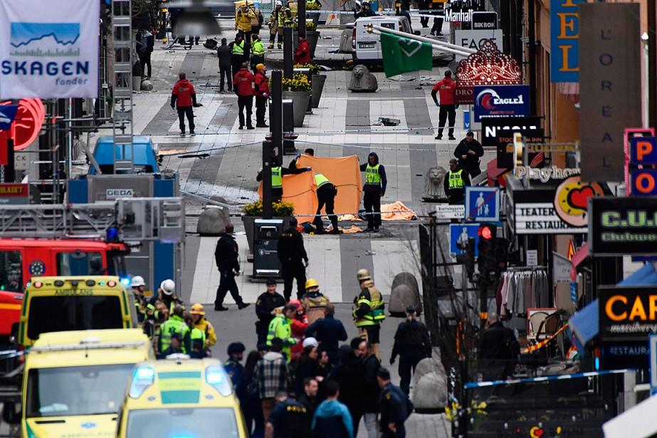 L'attentat à Stockholm a fait des morts et...