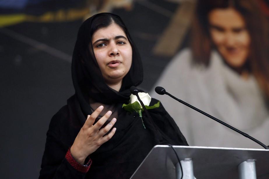 Malala Yousafzai,la lauréate du prix Nobel de la... (Photo Alastair Grant, Associated Press)