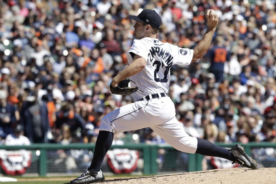 Le lanceur Jordan Zimmermann alimité les Red Sox... (Photo Carlos Osorio,AP)