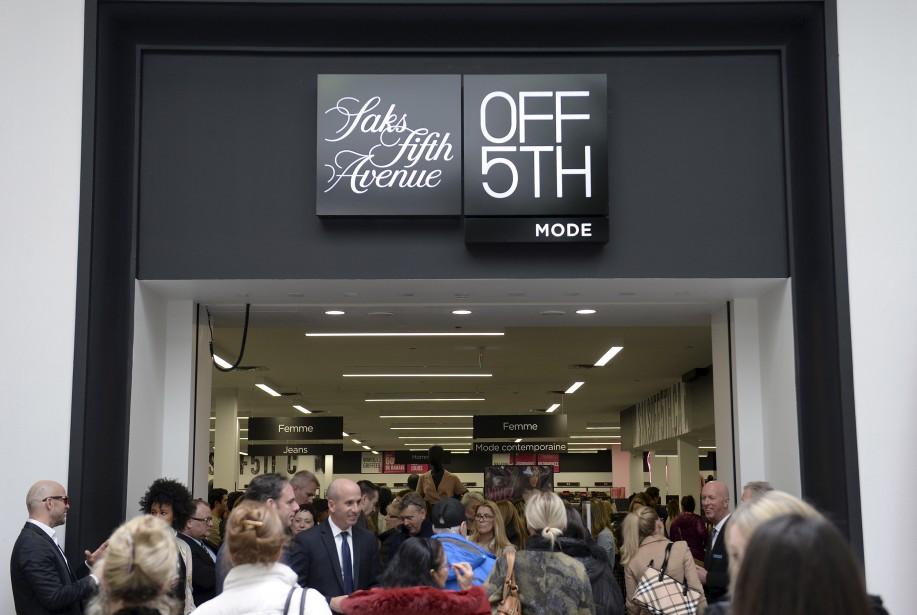 L'ouverture du magasin de Place Ste-Foy a été très courue, jeudi dernier, les 50 premiers clients recevant une carte-cadeau de 50 $. (Saks OFF 5TH)