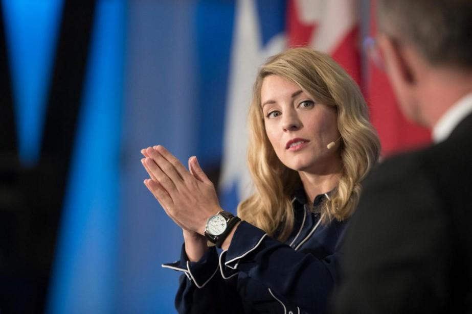 La ministre du Patrimoine Mélanie Joly a annoncé... (photoIVANOH DEMERS, LA PRESSE)