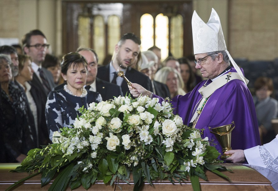 C'est l'archevêque de Montréal, Christian Lépine, qui a présidé la cérémonie. | 10 avril 2017
