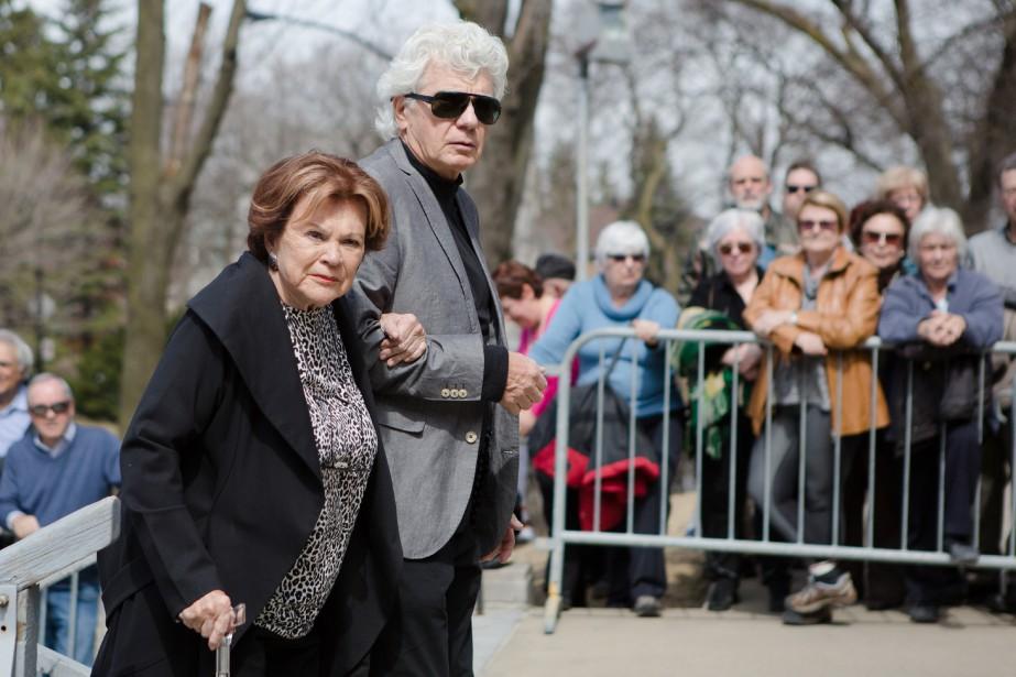 Janette Bertrand et son conjoint, Donald Janson. (NINON PEDNAULT, LA PRESSE)