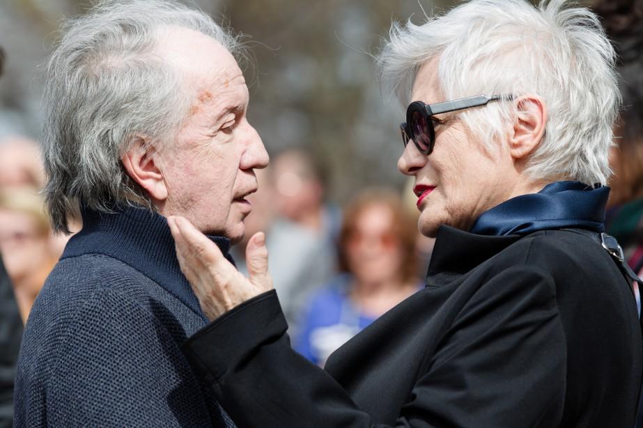 Le pianiste et compositeur André Gagnon et l'actrice Louise Latraverse. (NINON PEDNAULT, LA PRESSE)
