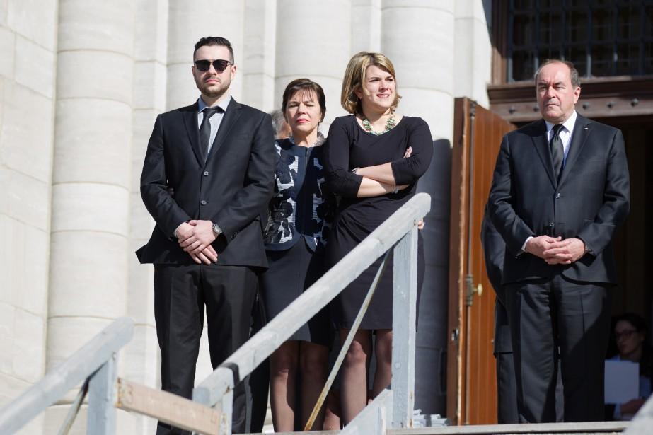 Mireille Deyglun, Jean-François Lépine et leurs enfants. (NINON PEDNAULT, LA PRESSE)