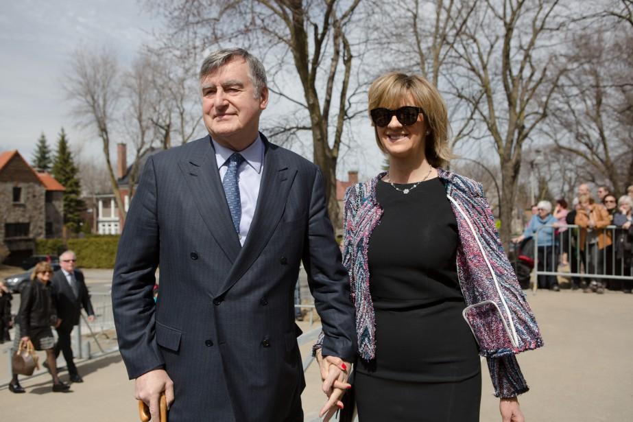 Lucien Bouchard et sa femme, Solange Dugas. (NINON PEDNAULT, LA PRESSE)