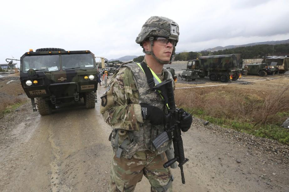 Un soldat américain à Pohang en Corée du... (AP)