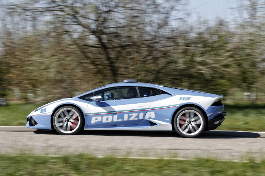 Lamborghini Huracan version police. (La Presse)