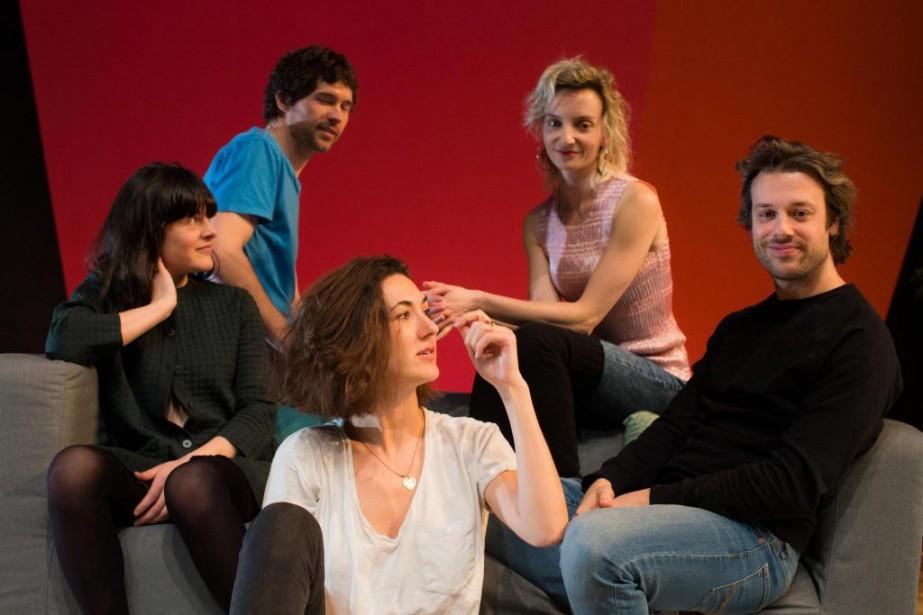 Les acteurs qui font partie de la distribution... (Photo Olivier PontBriand, La Presse)