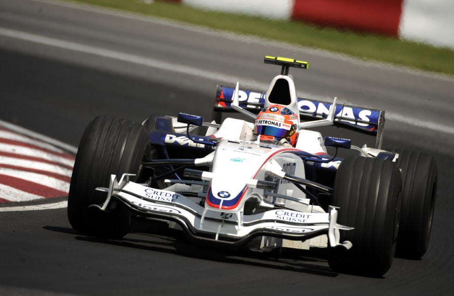 Robert Kubica sur BMW Sauber lors de sa course victorieuse au circuit Gilles Villeneuve lors du Grand Prix du Canada en 2008 à Montréal. (Photo Bernard Brault, La Presse)