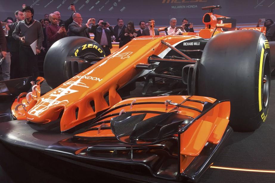 La nouvelle McLaren MCL32 de F1, lors de... (photo REUTERS)
