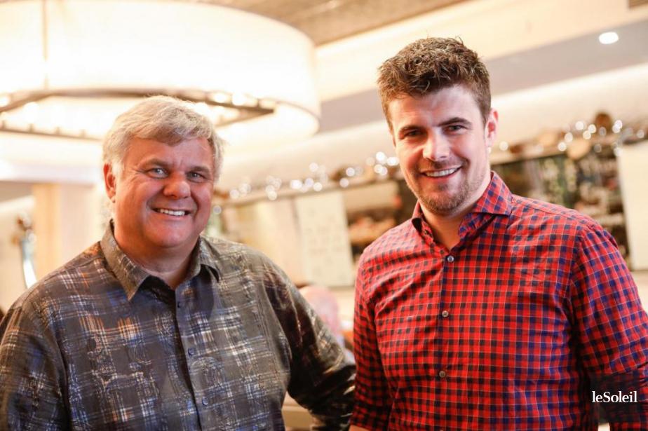 Jean-Luc Boulay et Arnaud Marchand au lancement de... (Photo Caroline Grégoire, Le Soleil)