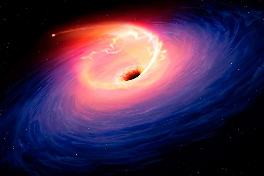 Obtenir une photo d'un trou noir constituerait une... (Mark A. GARLICK, Sheffield University via AFP)