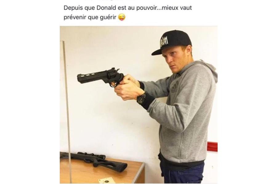 Le défenseur Wandrille Lefèvre a... (Photo tirée d'Instagram reproduite par RDS)