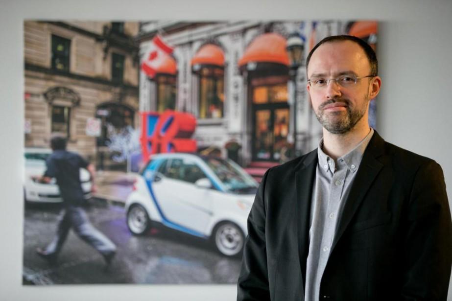 L'avocat Jérémi Lavoie, directeur de car2go à Montréal,... (Photo David Boily, La Presse)