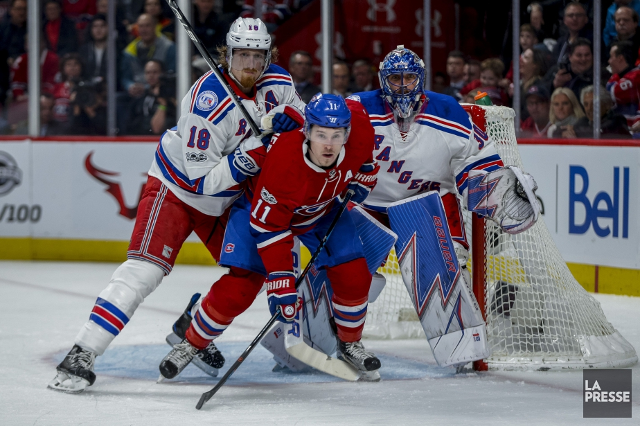 Marc Staal, Brendan Gallagher et Henrik Lundqvist... (PHOTO OLIVIER JEAN, LA PRESSE)