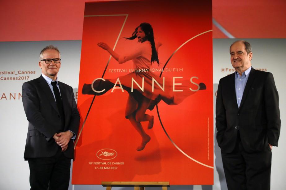 Le délégué général du Festival, Thierry Frémaux, et... (PHOTO AP)