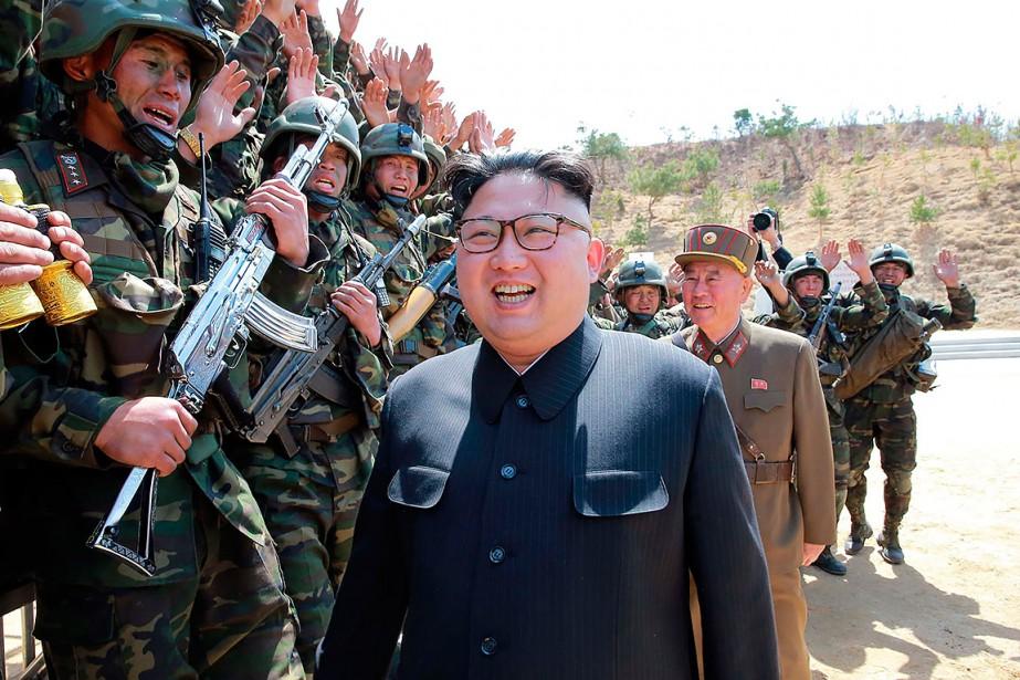 La Corée du Nord a publié ce vendredi... (KCNA VIA KNS via AFP)