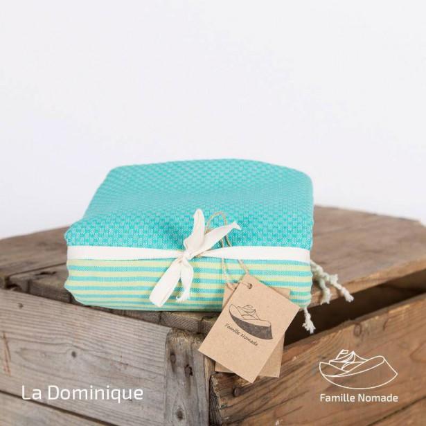 Fouta Nid d'Abeille La Dominique de la compagnie québécoise Famille Nomade. Vestibule Boutique Art de vivre   14 avril 2017