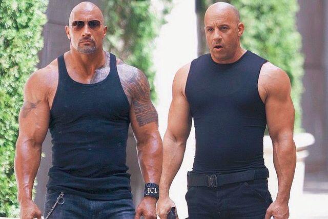 Dwayne Johnson et Vin Diesel dans The Fate... (Photo fournie par Universal)
