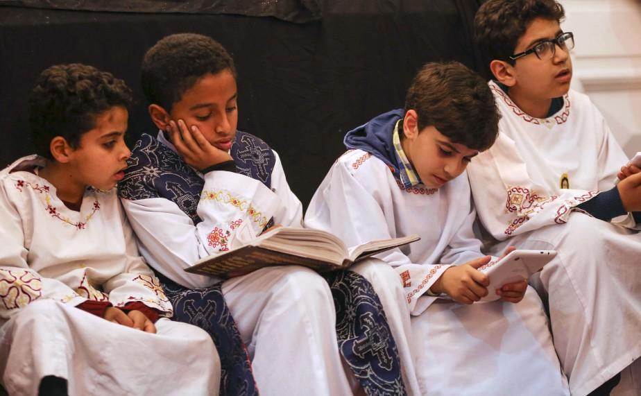 Des jeunes Égyptiens participent aux célébrations de Pâques à Mahalla, dans le nord du pays. | 15 avril 2017