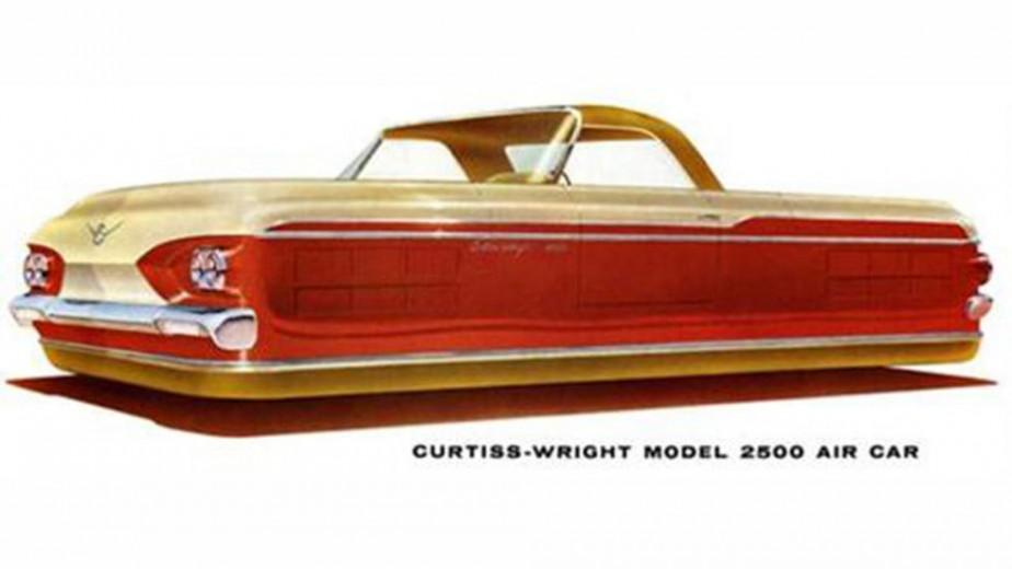 Ford n'était le seul à rêver. Ci-hjaut, le prototype Modèle 2500 Air-Car, de l'avionneur Curtiss-Wright. ()