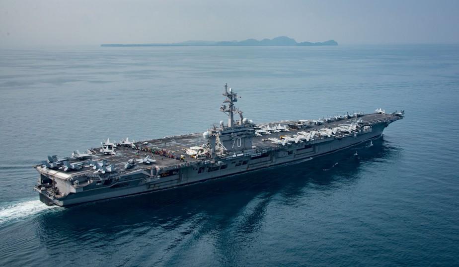 Une photo de la marine américaine prise ce... (PHOTO AFP)