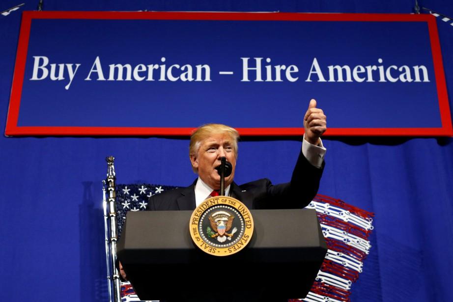 Donald Trump a déclaré aujourd'hui lors d'un discours... (PHOTO REUTERS)