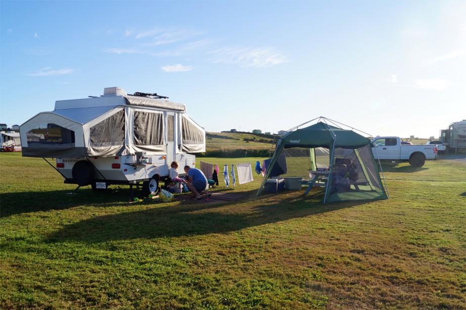 La tente-roulotte de Patricia Dupuis et sa famille.... (Photo fournie par la famille)