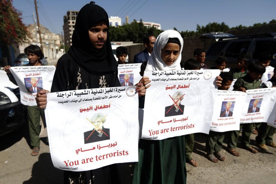 Des protestataires marcheront pendant cinq à six jours... (Photo Mohammed Huwais, Agence France-Presse)