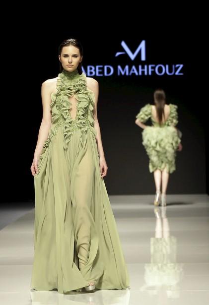 Une création du designer libanais Abed Mahfouz présentée à la Fashion Week de Beyrouth. | 19 avril 2017