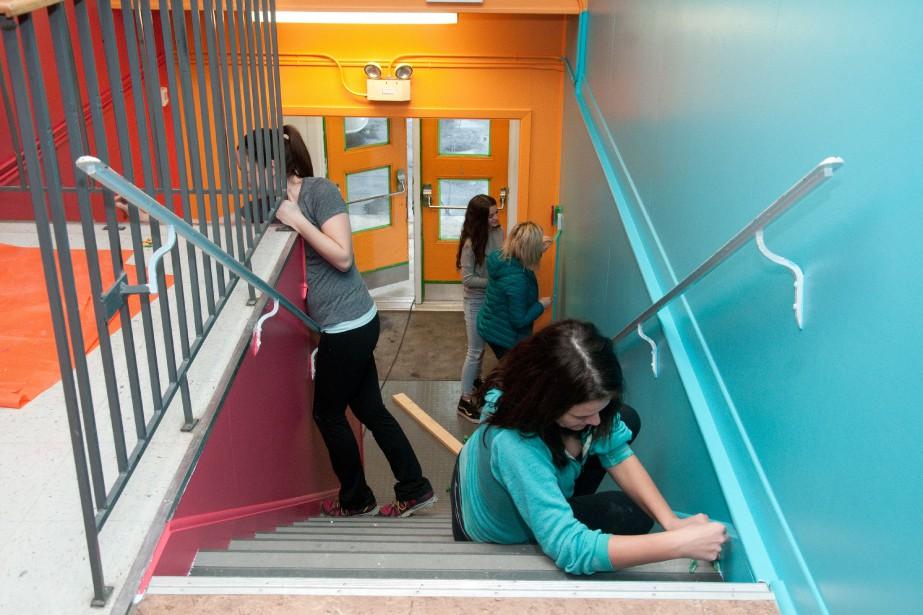 Les parents de l'école Capitaine-Luc-Fortin se sont impliqués... (PHOTO LE CANADA FRANÇAIS)
