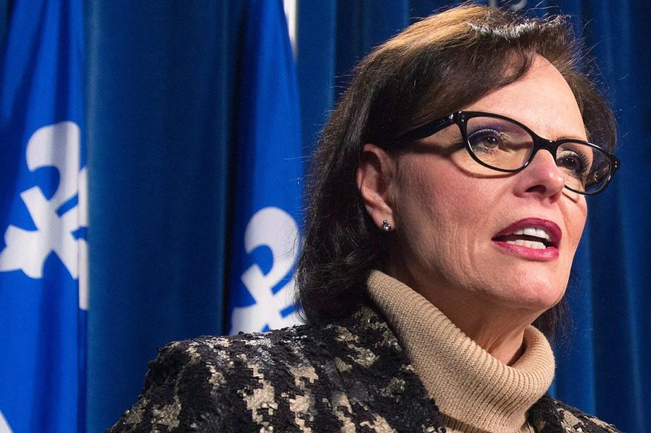 La ministre québécoise de la Santé publique, Lucie... (Jacques Boissinot, archives PC)