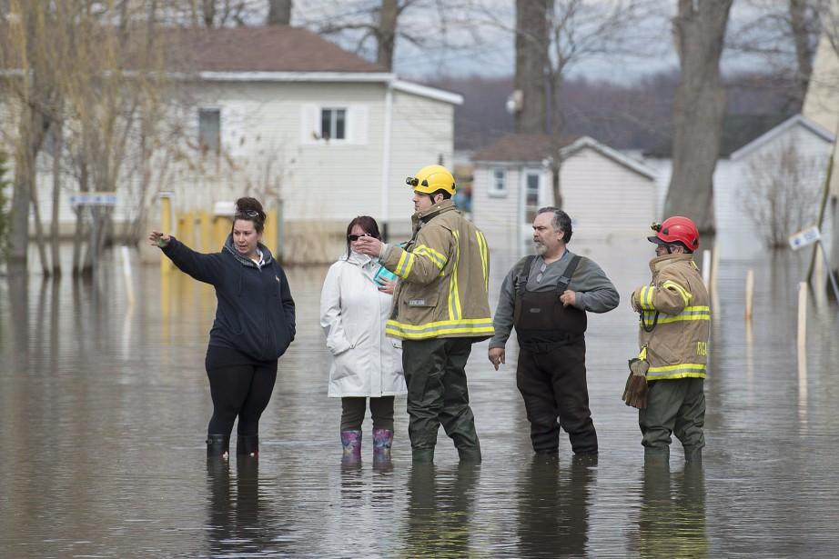 La Ville de Rigaud a ordonné l'évacuation de... (Photo Graham Hughes, PC)