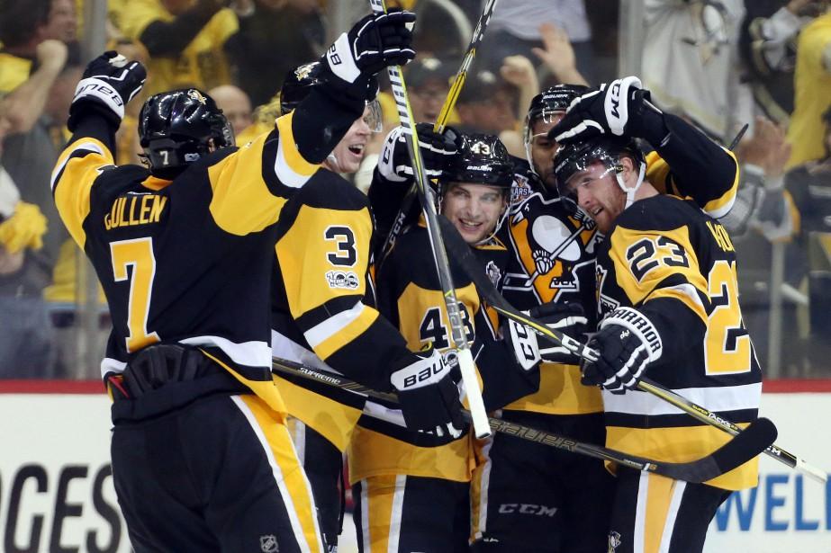 Les champions en titre de la Coupe Stanley... (Photo Charles LeClaire, USA TODAY Sports)