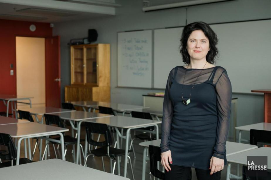 Corinne Larochelle est l'enseignante du cours«Littérature québécoise:des origines... (Photo Edouard Plante-Fréchette, La Presse)