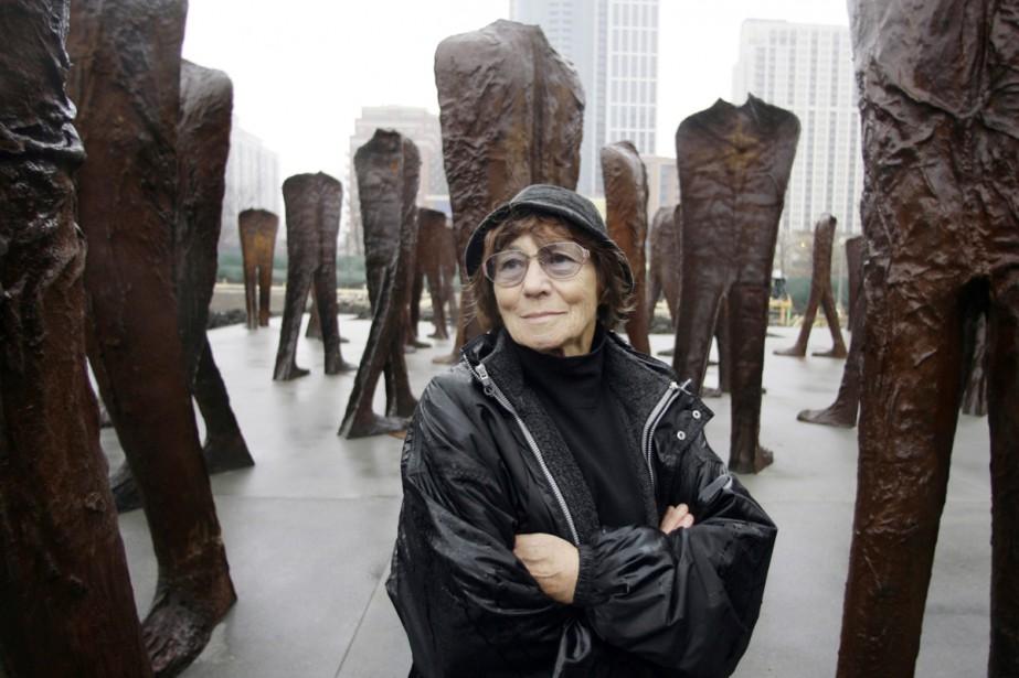 La sculptrice polonaise Magdalena Abakanowicz, présente... (PHOTO ARCHIVES AP)
