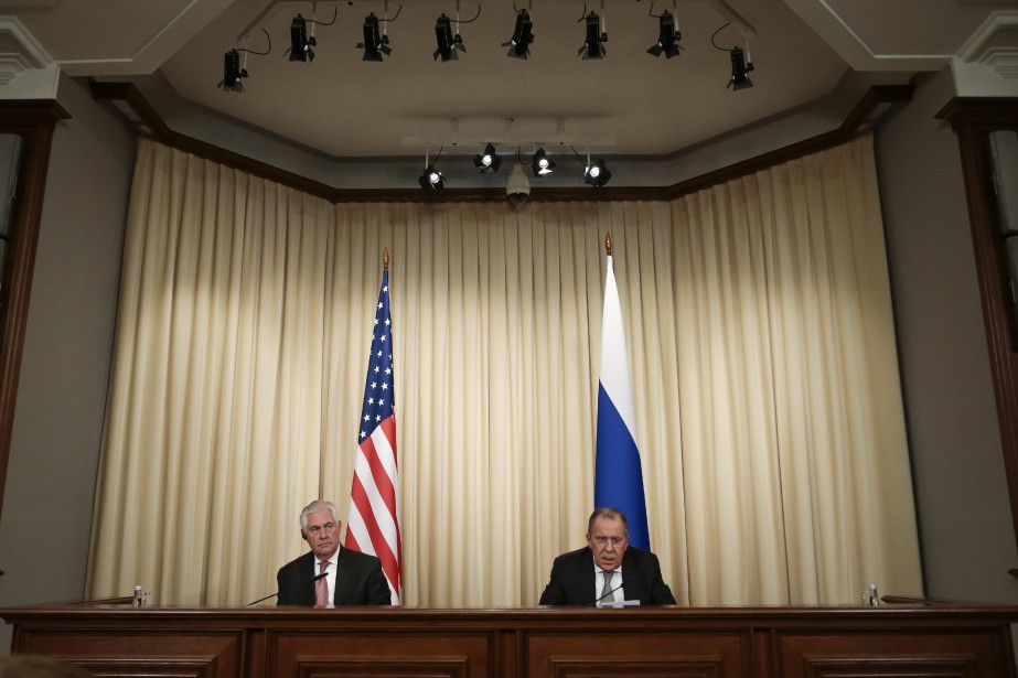 Sergueï Lavrov s'est entretenu vendredi au téléphone avec... (Photo Ivan Sekretarev, Ap)