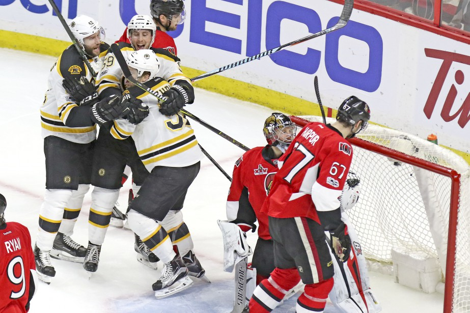 Les Bruins sont fait refuser un but   22 avril 2017