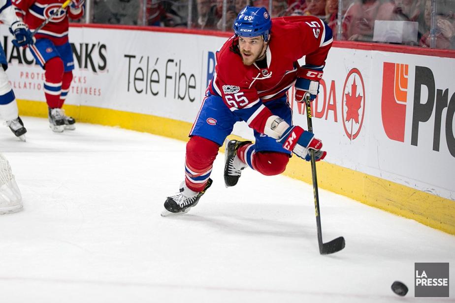 Le Canadien a annoncé qu'Andrew Shaw était blessé... (PHOTO DAVID BOILY, LA PRESSE)