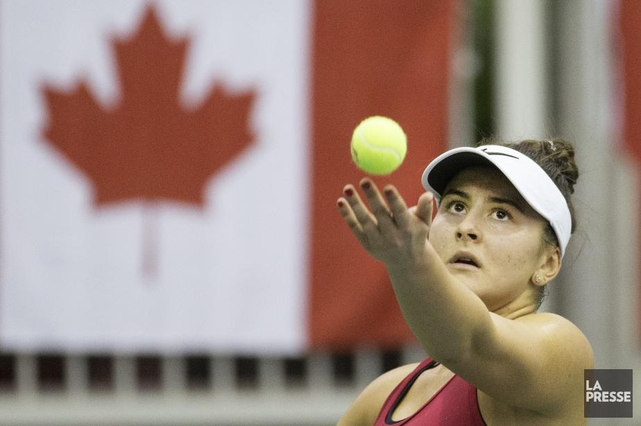 Bianca Andreescu (photo) s'est inclinée 6-4, 4-6 et... (PHOTO ROBERT SKINNER, LA PRESSE)