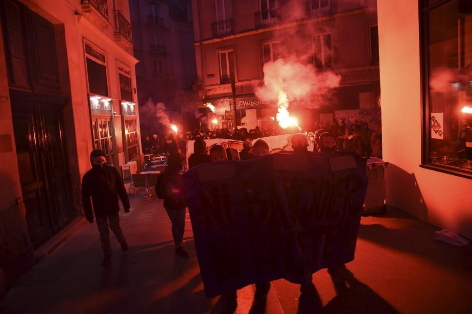 Le mouvement anti-fascisme s'est aussi manifesté à Nantes. (AFP, Jean-Sébastien Evrard)