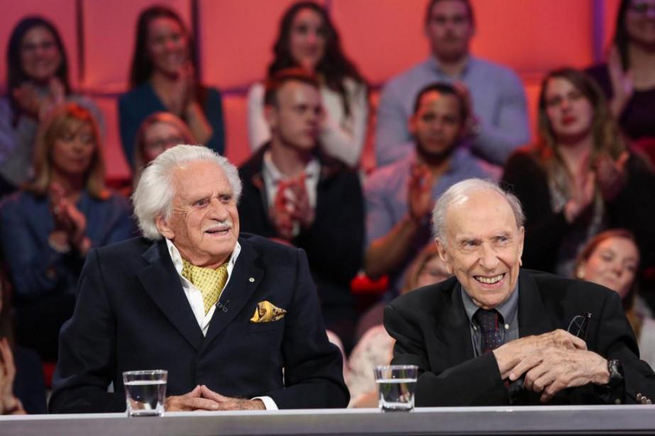 Philippe de Gaspé Beaubien et Yves Jasmin étaient... (Photo fournie par ICI Radio-Canada)